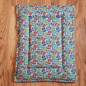 Cat Mat, Bed, Flannel Colorful Kitty small 18 x 24